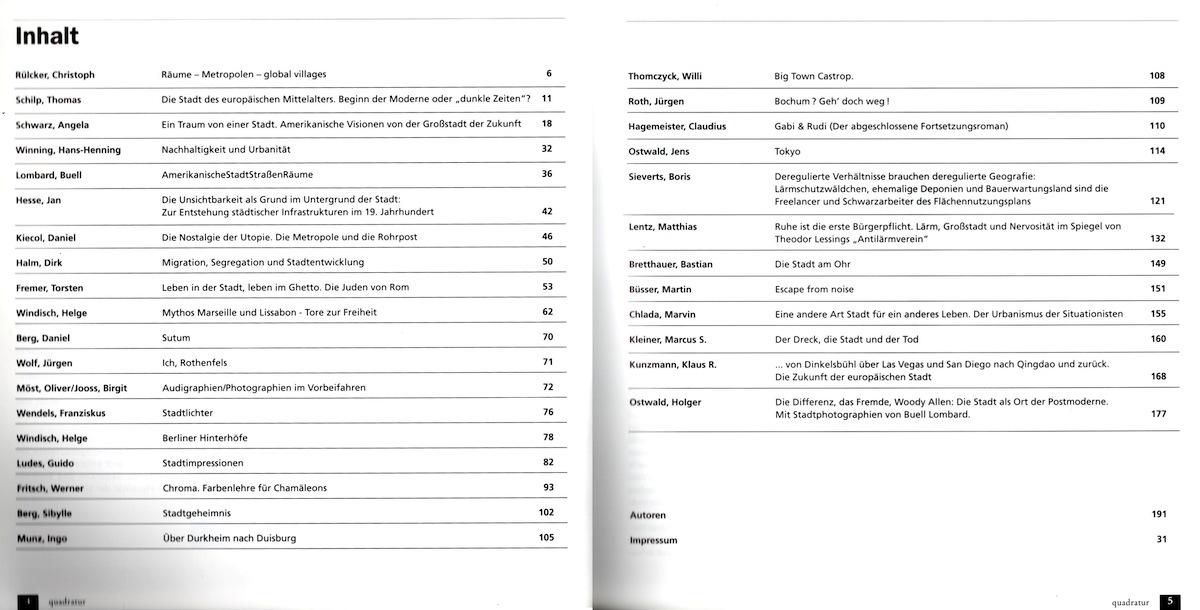 Inhaltsverzeichnis Quadratur 4