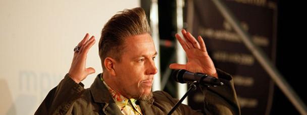 """09.05.2016 Keynote zum DOK.music Open Air beim Internationalen Dokumentarfilmfestival DOK.Fest München. Marcus S. Kleiner spricht über Amy Winehouse und den Dokumentarfilm """"Amy – The girl behind the name"""" (2015)."""