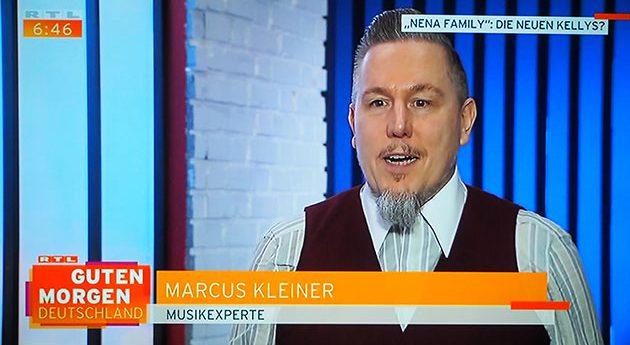 """13.11.2018 RTL – Guten Morgen Deutschland. Marcus S. Kleiner im Interview zu: """"Nena Family: Die neuen Kellys?"""