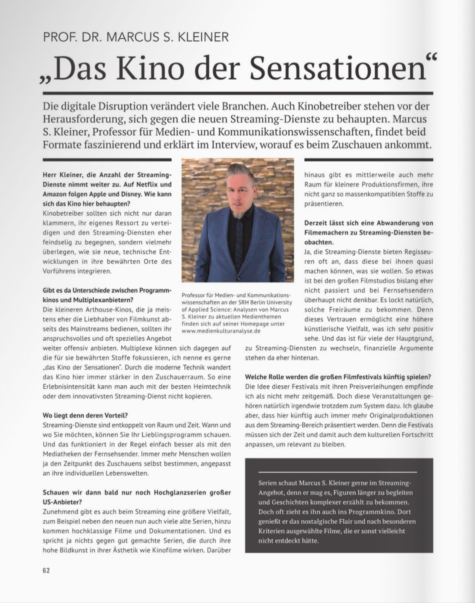 Pawlik Journal Marcus S. Kleiner Streaming