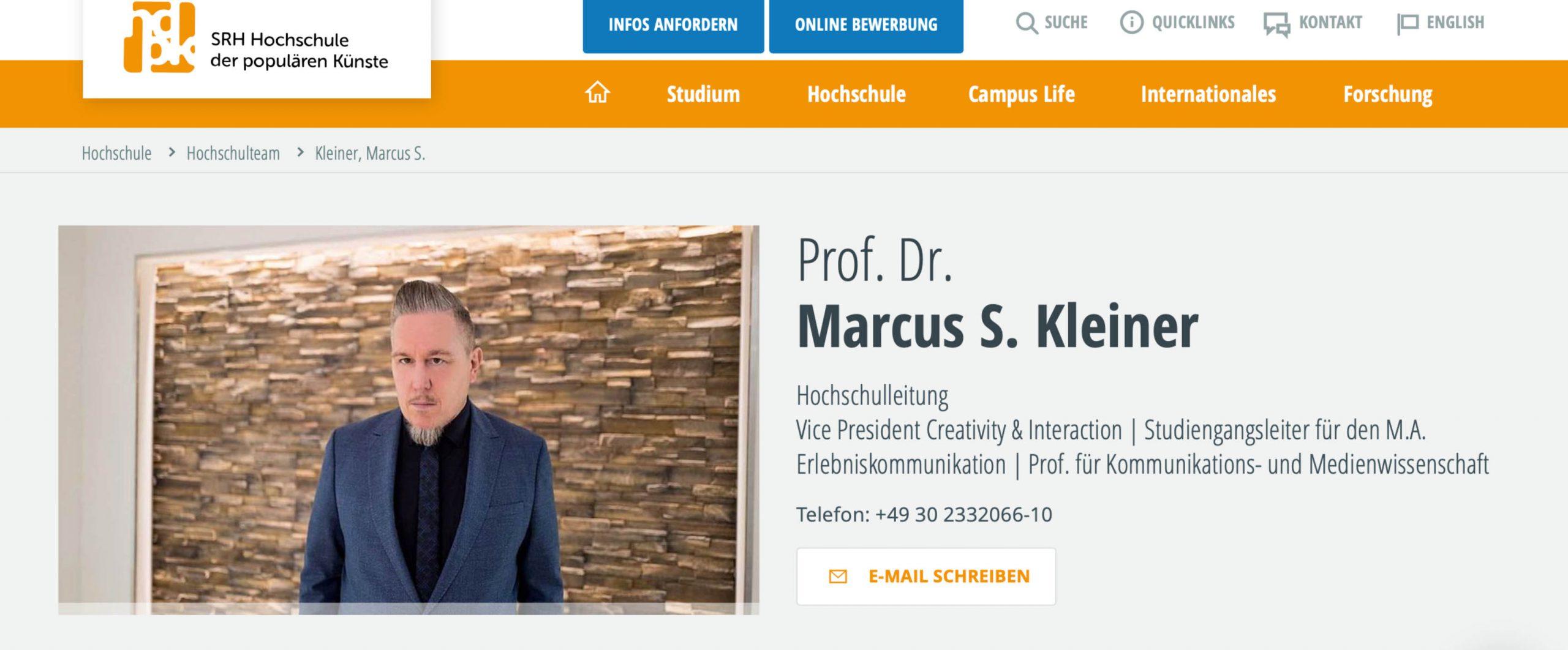 Marcus S. Kleiner SRH Berlin