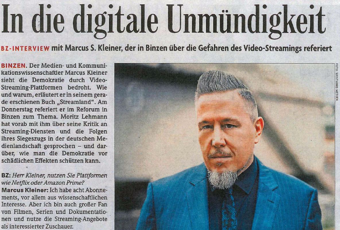 Badische Zeitung Streamland Marcus S. Kleiner